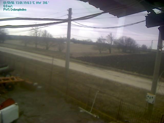 Доброплодно времето уеб камера селскостопански двор на бивше ТКЗС улица сгради склад метеостанция Free-WebCamBG