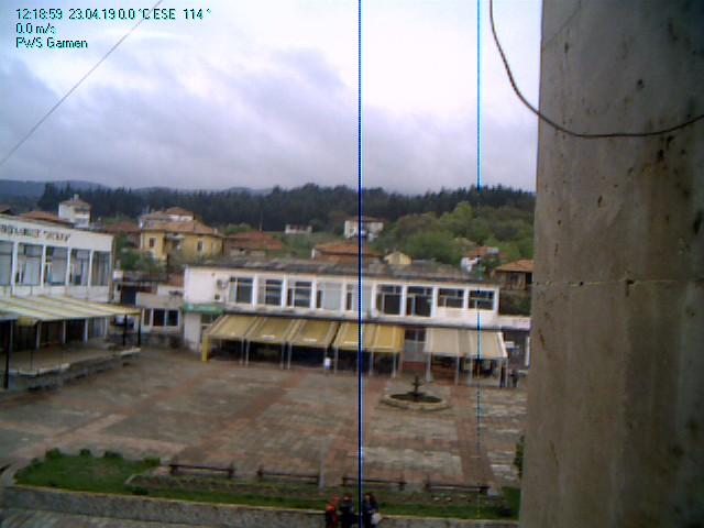 Село Гърмен времето уеб камера Център, улица, площад с фонтан, община и църква Free-WebCamBG