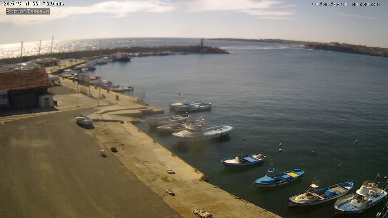 Webkamera v přístavu Carevo - WebCam in Port of Tsarevo